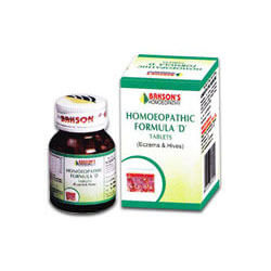 Bakson Homoeopathic Formula 'D' Tablets For Skin Care