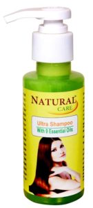 Natural Care Ultra Shampoo 100ml for hair loss in women and men